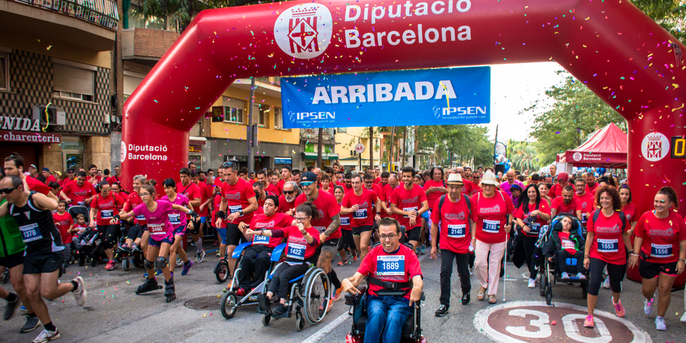 Ipsen Barcelona running for people with cerebral palsy